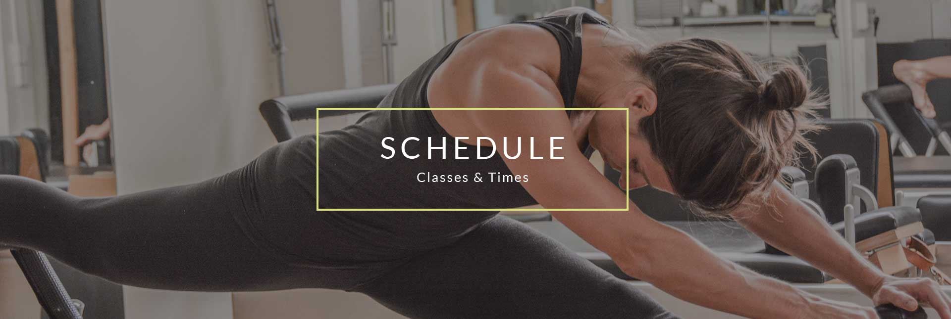 Geometry Pilates Schedule